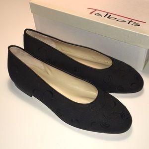 Talbots Black Linen Flats NWT